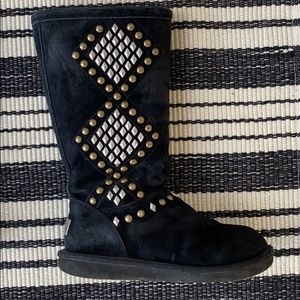 Women's Beaded Black Ugg Boot